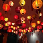 This is the ceiling of the Bo Bun Vietnamese Restaurant