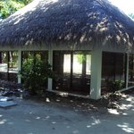 A traditional thatched hut-The Library!