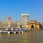 Harbour view from ferry of Taj Mahal Hotel & Gateway of India
