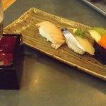 Nigiri - Toro, Mackerel, Smelt Roe