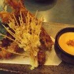 Spicy deep-fried prawns