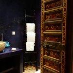 Beautiful purple bathroom
