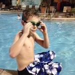 Enjoying the pool in December!