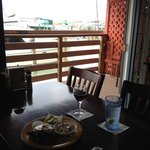Dine with a view of the marina on Boca Ciega Bay.