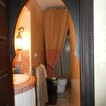 salle de bains chambre rose