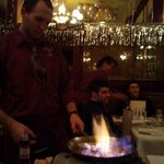 Crepe Suzette at the table