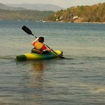 kayaking on lake Jocassee