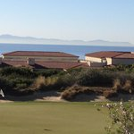 Golf course with Catalina Island in the Background