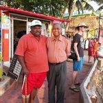 i am with mr. sams (owner of Pulari Resorts) at helipad.