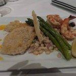 Crab crusted haddock plus 3 large shrimp!