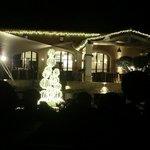 Grande terrasse de nuit