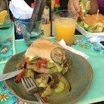 Sanduíche de legumes