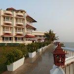 A wonderful promenade overlooks the Arabian Sea