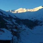 Ausblick zum Tal am Morgen