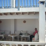 Shelter for breakfast from sometimes windy Essaouira