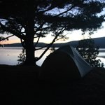 Somes Sound View - Anchor Campsite at sunrise