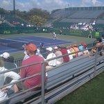 Adjacent tennis court