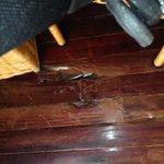 Uno de los huecos del piso de la hab 3321 Hesperia Isla Margsrita