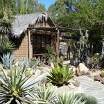 The Casita to one side of the garden