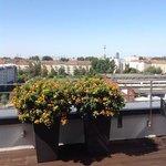 utsikt fra terrassen mot Alexanderplatz
