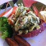 Lobster meal for $130 EC each