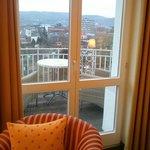 Aussicht auf den Balkon
