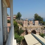 View from Room of Byzantine Wall and Sea of Marmara