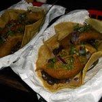 Fried avocado tacos at Blue Gecko Cancun