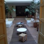 view of the courtyard from one of the rooms