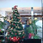 décoration Noël dans le hall