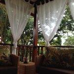 terrazzo sul giardino tropicale