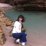 Pequeñas lagos alrededeor de las rocas