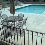 Outdoor Heated pool and sundeck area