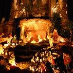 Il presepe sull'altare