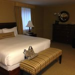 The bed area