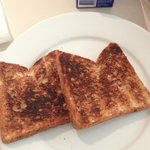 One side of the toast...perfect