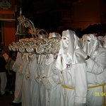 "Easter processions - carrying the silver-encrusted ""throne"" with its statue"