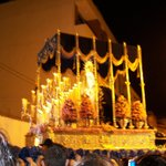 Easter processions - throne at night
