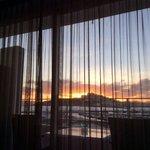 Sonnenuntergang Silvester 2013 vom Zimmer 302