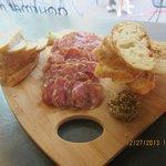 A surprisingly beautiful presentation of salami tray