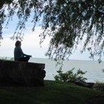 Meditation rock on Lakefront walkway