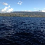 view of Molokai from the Coral Queen