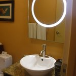 cool bathroom mirror and sink