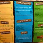 Fish Shack menu