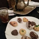 Traditional mint tea & biscuits.