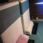 quartos limpos diáriamente, camas boas e grandes