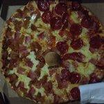 Greasy pizza