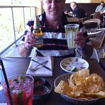 Cranberry Mojito, chips & 3 kinds of salsa, modelo chelada style