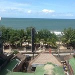 view to Kuta Beach from roof top