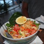 Laos crispy rice salad (delicious)